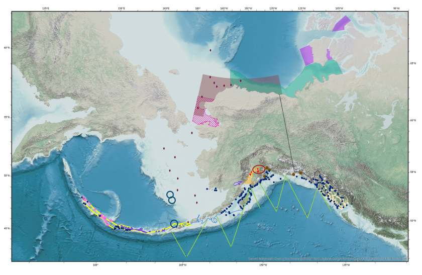 Expected 2019 field work conducted by the Alaska Fisheries Science Center. NOAA Fisheries.